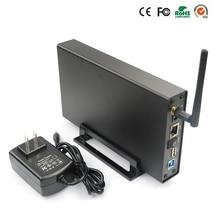 Rápida Velocidad de lectura 2.5 hdd usb 3.0 gigabit router wifi WLAN LAN Sata a USB 3.0 caja de disco duro externo 1 tb hdd MR35TWF