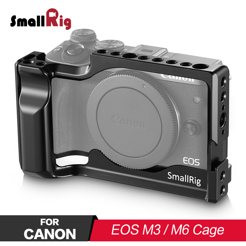 SmallRig Camera Cage for Canon EOS M3 and M6 for Camera and Photo Accessories Can attach with magic arm ,microphone 2130
