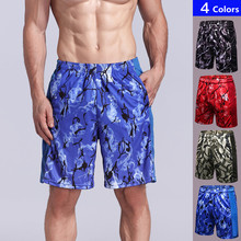 Yuerlian Mens Printed Running Shorts Fitness Sport Training Loose Elastic Breathable Quick-drying Gym Sportswear