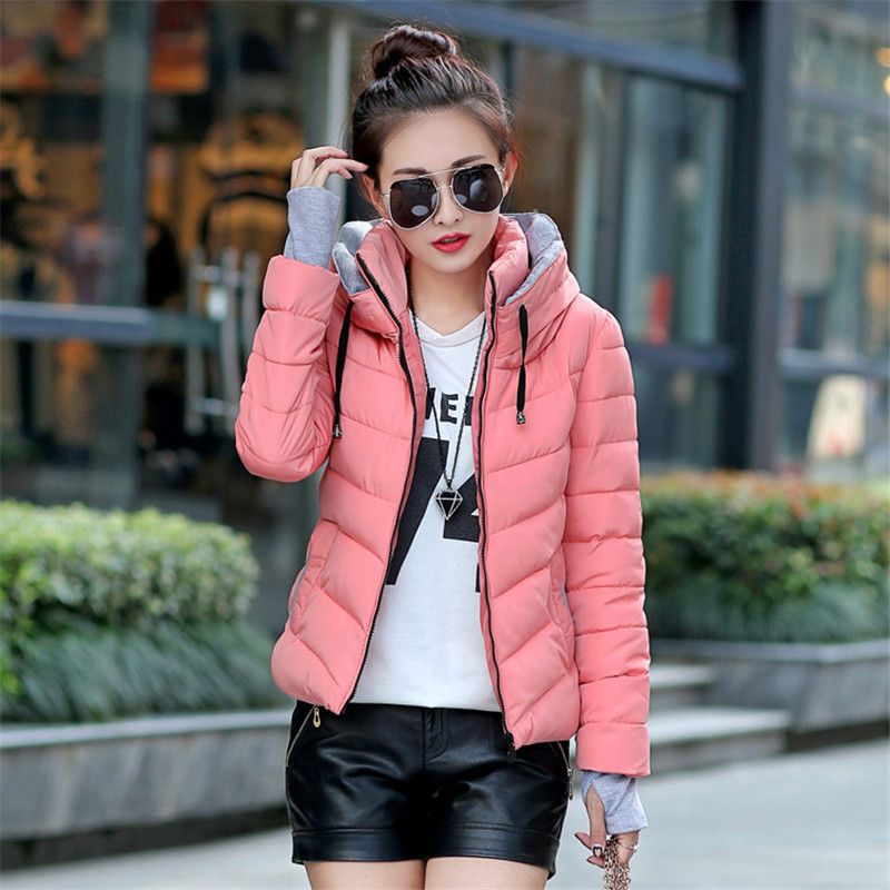 NEW 2016 femal long sleeve warm light down padded winter jacket women parkas for women winter coat women parks plus size