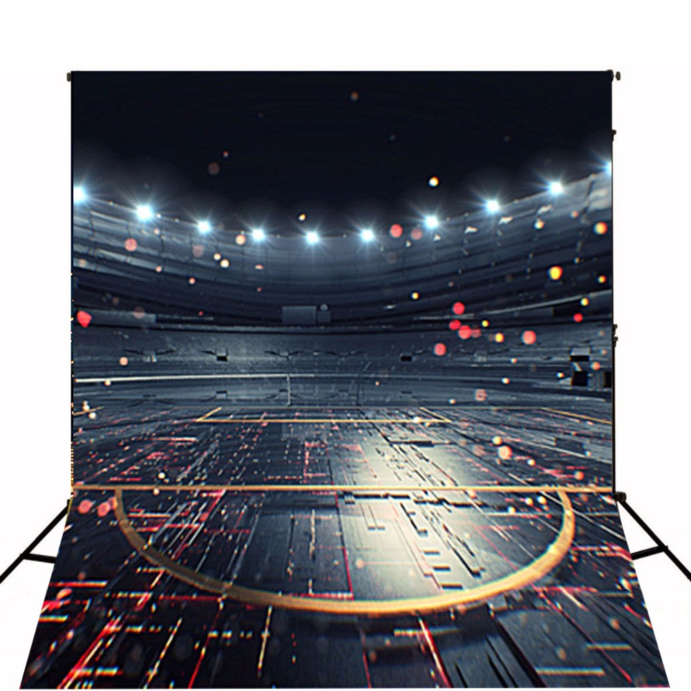 Photography Backdrop Black City Night 5x7 Seamless Backgrounds for Photography Gray Floor Digital Printed Photo Studio Props