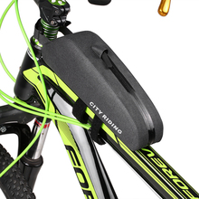 купить Bike Top Tube Bag Water Repellent Bike Front Tube Bag Bike Storage Bag Cycling Front Frame Pouch Cycling Bicycle Accessories по цене 591.39 рублей