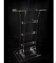 Customized acrylic lectern crystal podium/pulpit free shipping high quality price reasonable beautiful acrylic podium pulpit lectern