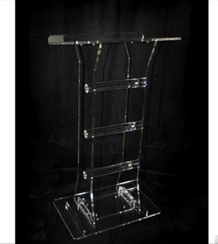 Wholesale Clear Fixture Displays Plexiglass Customized acrylic lectern crystal podium Acrylic Podium Clear Lectern Church Pulpit fixture displays clear acrylic lucite podium pulpit lectern 45 tall