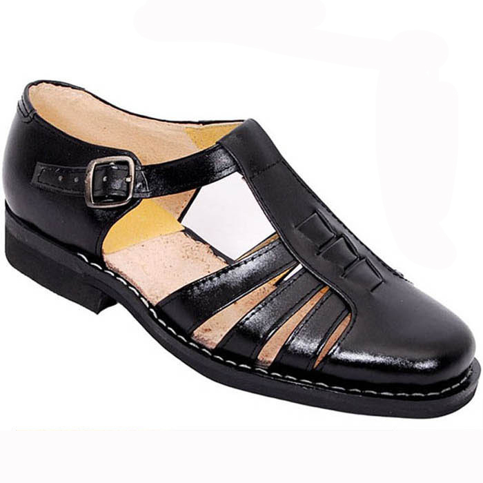 f590ce1b988 PLUS SIZE 2015 Fashion Classics summer mens high quality Genuine leather  shoes Buckle strap men sandals casual pantufa PZ0070-in Women s Sandals  from Shoes ...