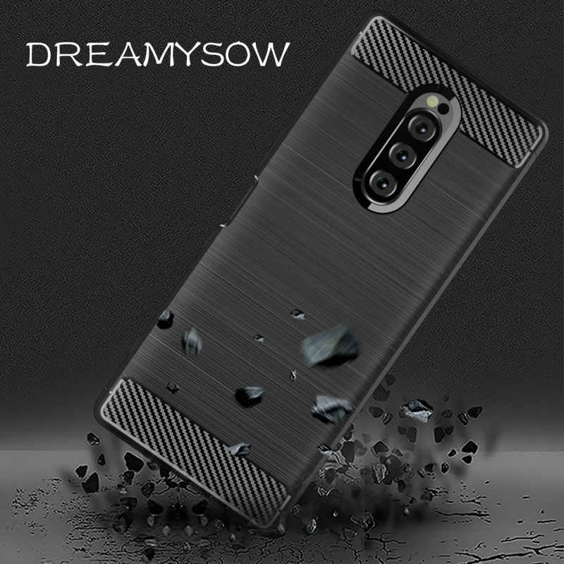 Soft TPU Carbon Fiber Case For Sony Xperia 20 2 Cover For Xperia 10 XA1 XA2 Plus XA3 Ultra XZ3 XZ4 XZ1 Compact XZ XZ2 coque Case
