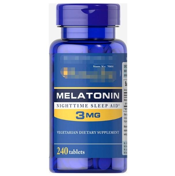 1bottle Strength Melatonin 3mg*120 3mg*240pcs Simulation Kitchen Toy  Help Improve Sleep