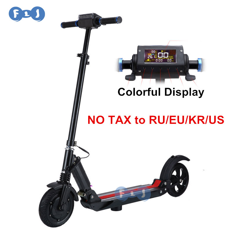flj 8 inch electric scooter with colorful display easy. Black Bedroom Furniture Sets. Home Design Ideas