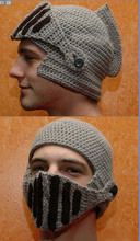 Free Shipping 2014 New Brand Women And Men Warm Winter Crochet Knit Hat With a Gladiator