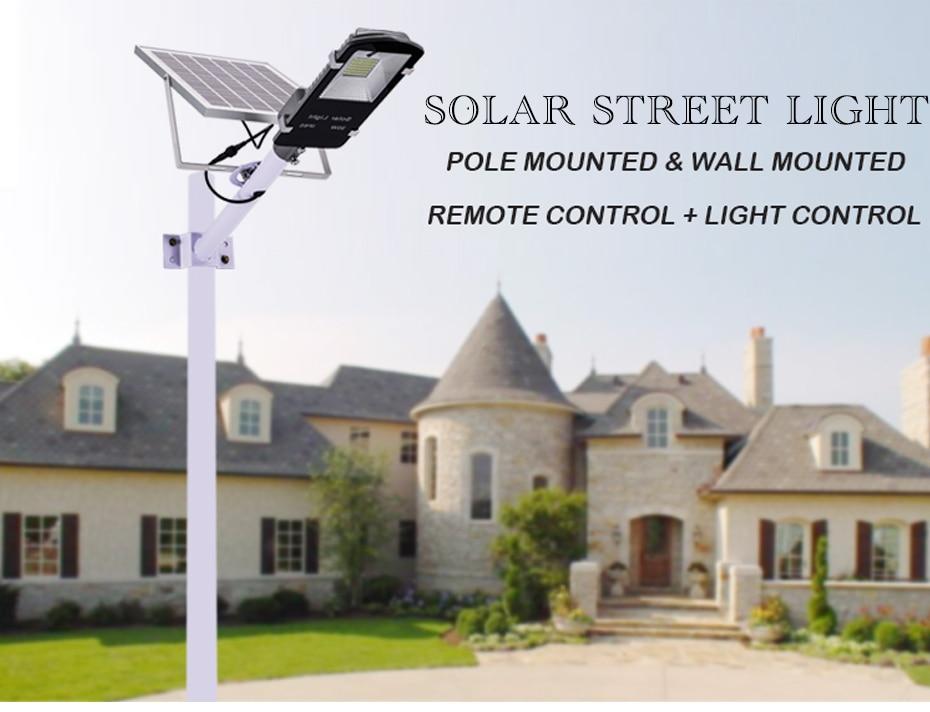 今週の割引 Bhutanese 街路灯の庭 屋外ソーラー街路灯海外倉庫防水大型太陽電池パネルリモコン高輝度 2