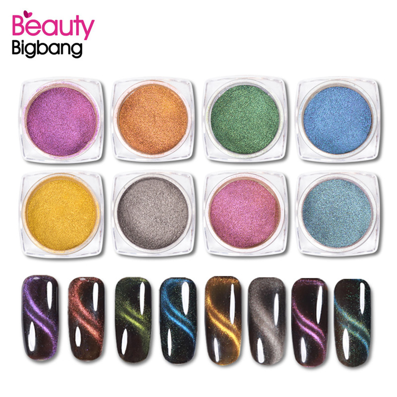 Schönheit & Gesundheit Nagelglitzer Diszipliniert Beautybigbang 1 Box 1g Katze Augen 3d Pulver Magie Magnetic Nail Glitter Staub Uv Gel Maniküre Magnet Nagel Kunst Pigment