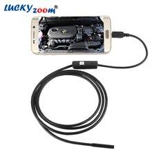 130 Вт 720 P (На ПК) HD 7 мм объектив Инспекции Эндоскопа Трубы 1 М Для OTG Android Телефон Водонепроницаемая USB Микроскоп Камера С LED Light