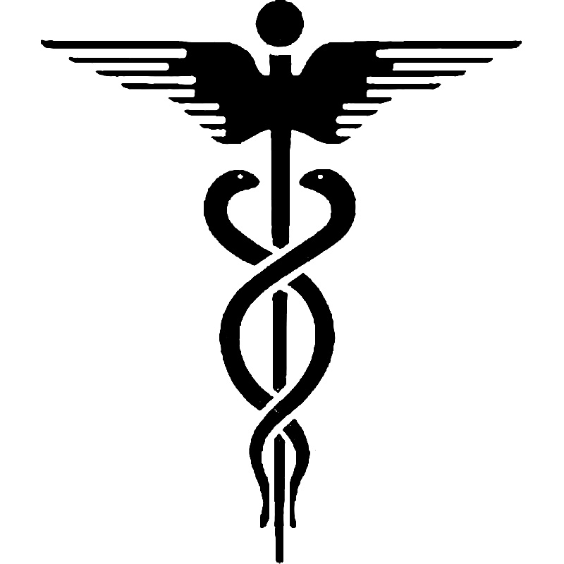 15.2cm*18cm Medicle Snake And Dagger Personality Car Sticker Motorcycle Decals Black/Silver S6-3125