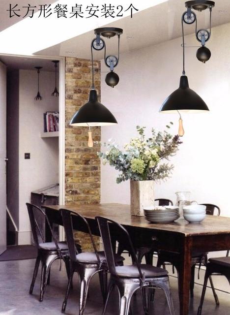 Pendant Light Restaurant Lamp Study Bedroom Pulley Lighting Brief Lift Retractable Lamps