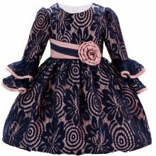 Autumn Christening Baby Girl Dress Wedding Long Sleeve 1 year birthday Newborn Princess Dresses Infant Tutu Dress Girl clothes