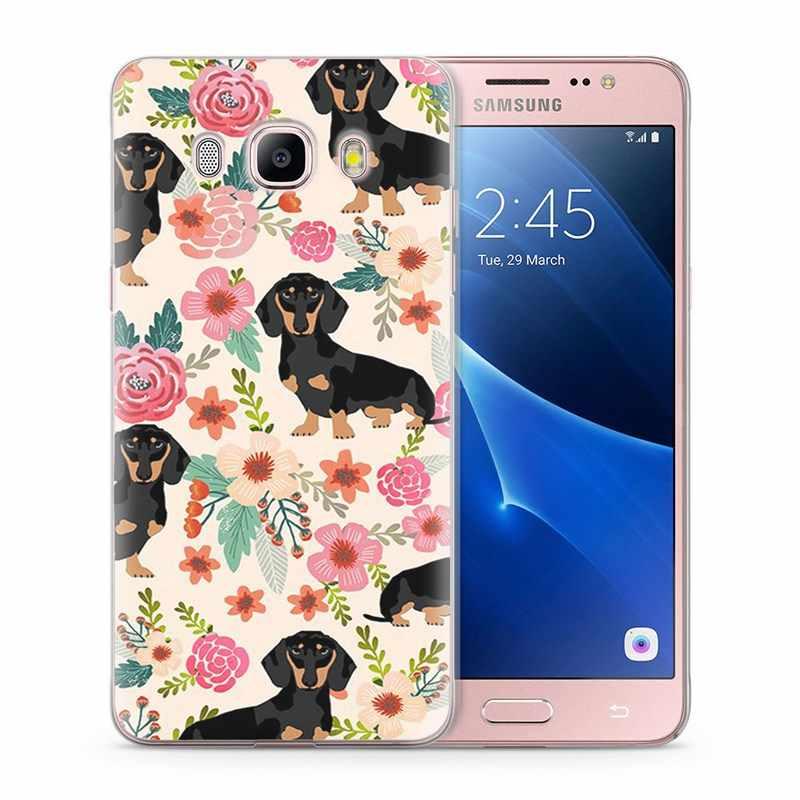 Para Funda Samsung Galaxy J7 2016 Caso J710 J710F Casos Macio TPU Capa De Silicone Design especial beleza amor elf W017