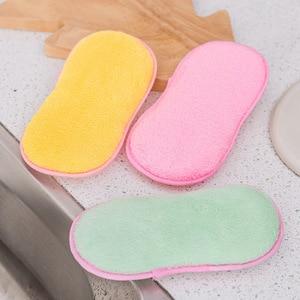 Image 2 - 2018 Schuursponsjes Dubbelzijdig Antibacteriële Schrobben Sponzen Schuursponsje Dish Cleaning DC112