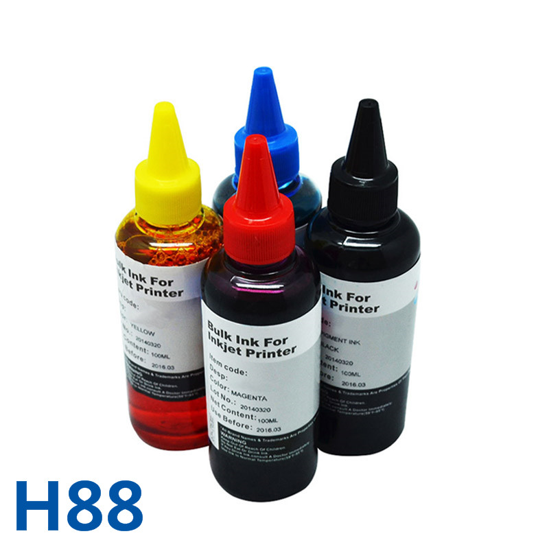 400ml For HP88 Bulk Dye Universal Refill Ink Kit For HP Officejet Pro L7590 L7650 L7680