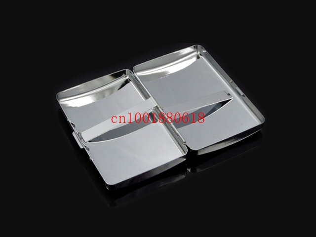 Free Shipping Empty Blank Cigarette Box Case Stainless Steel Tobacco Tube Storage Pocket Box Holder Handy Portable 240pcs/lot