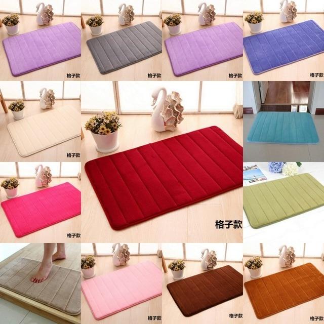 High Quality 40x60cm Bath Mat Bathroom Bedroom Non Slip Mats Memory Foam Rug Shower Carpet