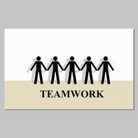 Big Size Modern Teamwork Team Poster Decoration Wall Art Pictures Canvas Paintings For Living Room Home