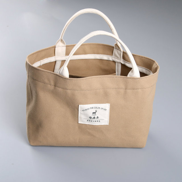 Fresh vintage canvas shopper bag beautiful tote bags designer beach red  GR89