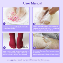 Feet Exfoliating Foot Mask for Legs Lavender Heels Magic