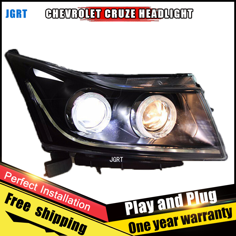 2PCS Car Style LED headlights for Chevrole Cruze 09-14 for Cruze head lamp LED DRL Lens Double Beam H7 HID Xenon bi xenon lens for volkswagen polo mk5 vento cross polo led head lamp headlights 2010 2014 year r8 style sn