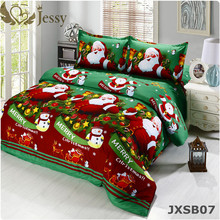 For Merry Christmas Gift Set 4Pcs Santa Clause 3D Bedding Duvet Cover Bed Sheet Pillowcase Sham Covers