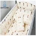 Envío gratis sistema del lecho del bebé Material de algodón cuna cuna juegos de cama para bebé juego de cama de colores carácter 7 Size barato