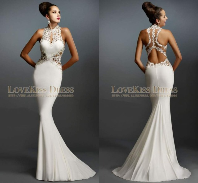 72cad71078 Sexy Vestido de Fiesta Vestidos Largos Opacidad Volver Sirena vestidos de  Baile vestido de 2017 Vestido