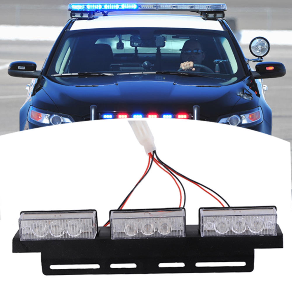 New 54 LED DC 12V Auto Car Vehicle Truck Strobe Lights Waterproof Flashing Lamp with Blue and White Light Car Accessories dc 12v vehicle blue led bulb lamp