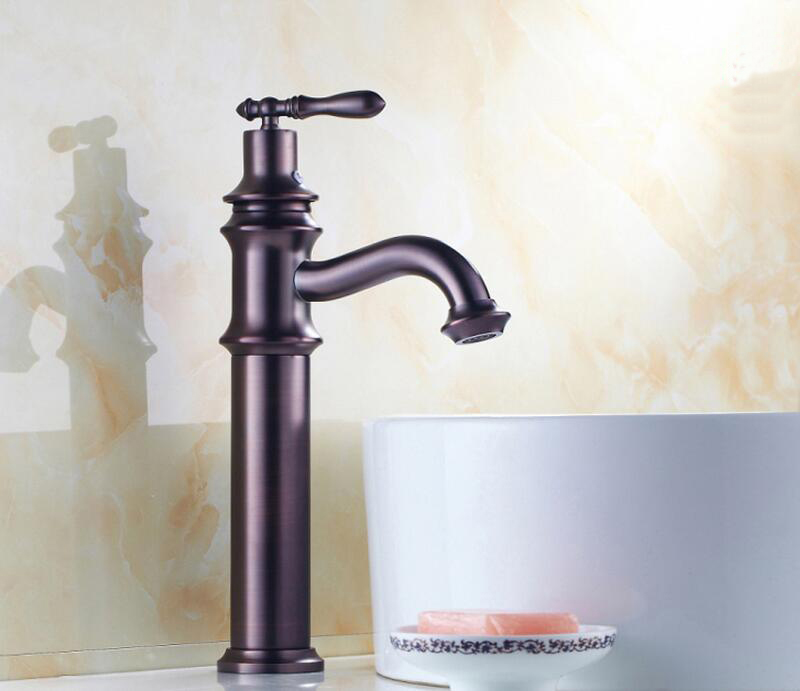 Bathroom Wash Basin Faucet Mixer With Pull Out Oil Rubbed Bronze