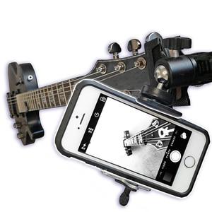 Image 1 - Gopro 액션 카메라 태블릿 고정 지원을위한 아이폰에 대한 기타 우쿨렐레 마운트 홀더 조정 가능한 볼 헤드 모바일 phonfe 홀더