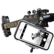 الغيتار القيثارة جبل حامل آيفون ل Gopro عمل كاميرا اللوحي تثبيت دعم فوهة كروية قابلة للضبط رئيس حامل الهاتف المحمول