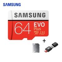 Карта памяти Samsung Class10 флэш-памяти TF/микро SD карты U3/U1 4 K 256 ГБ 128 Гб 64 ГБ 32 ГБ оперативной памяти, 16 Гб встроенной памяти, 100 МБ/с. Microsd карты для мо...