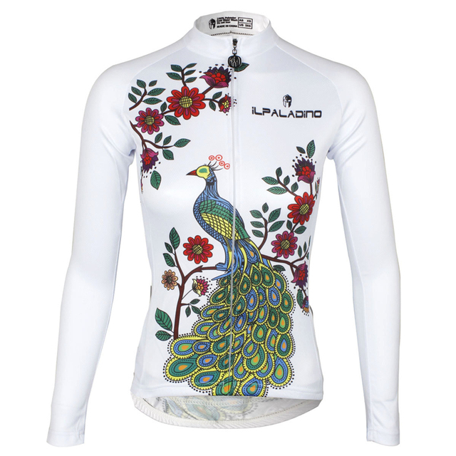 9d92cec4d ILPALADINO Long Sleeve Cycling Jersey Women s Mountain Bike Jersey Ladies  Cycling Shirts Bicycle 2018 Reflective Ant UV