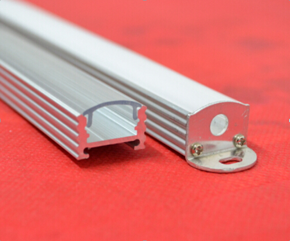 Free Shipping Hot Sale Aluminum Profile LED U -Groove Housing With PC Cover Wood Texture For Door And Window