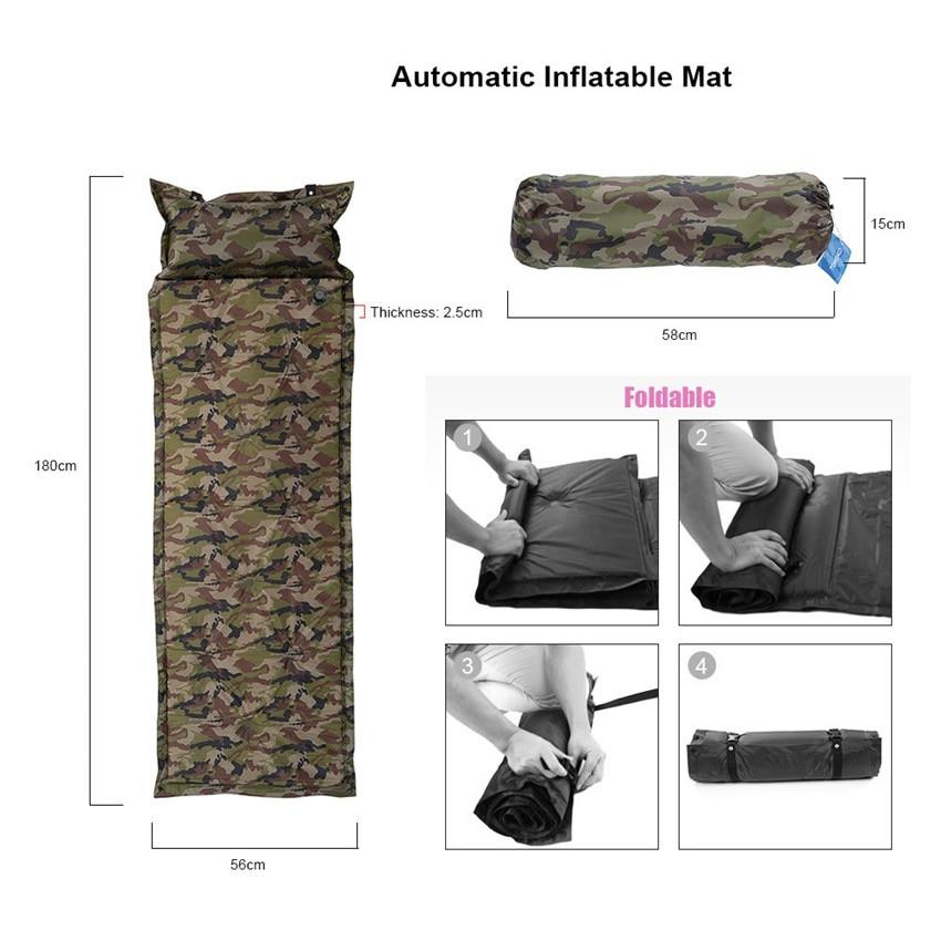 Camouflage kültéri automata felfújható matrac párna pad vastag - Kemping és túrázás - Fénykép 5