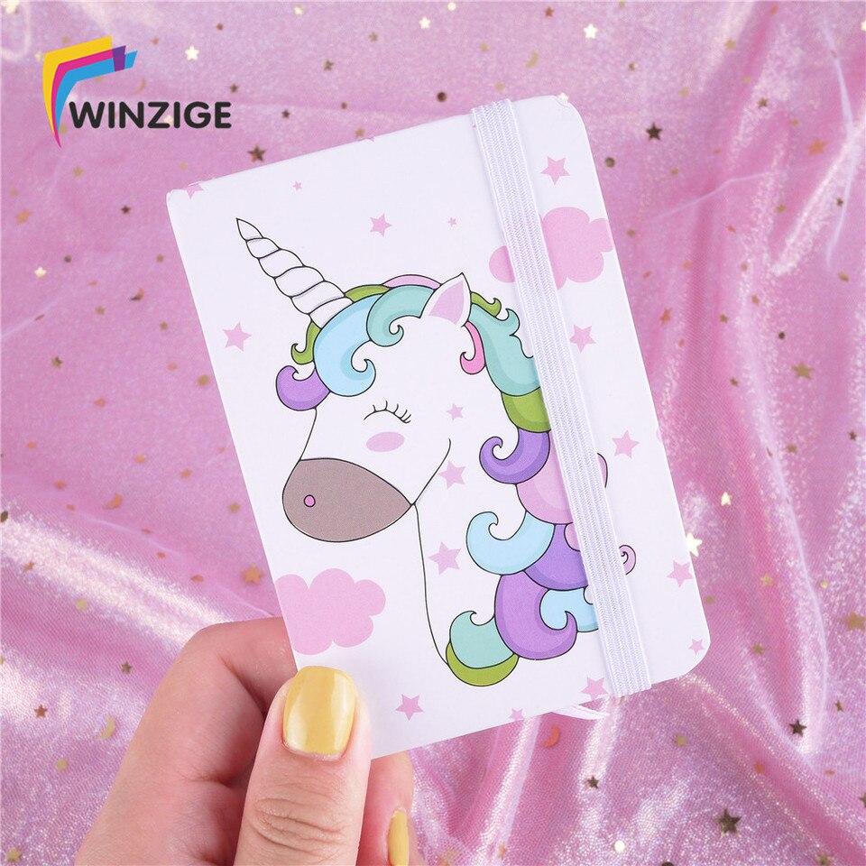Winzige Portable Unicorn Planner Office School Schedule Stationery