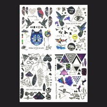 Save More 4PCS/SET 21X15cm Combo Multi-style Fashion Cool Temporary Tattoo Combo#6