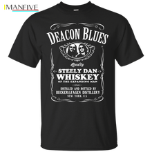 купить!  Steely Dan Виски Футболка Deacon Blues Black Tees Clothing 2019 Новая футболка с коротким рукавом по