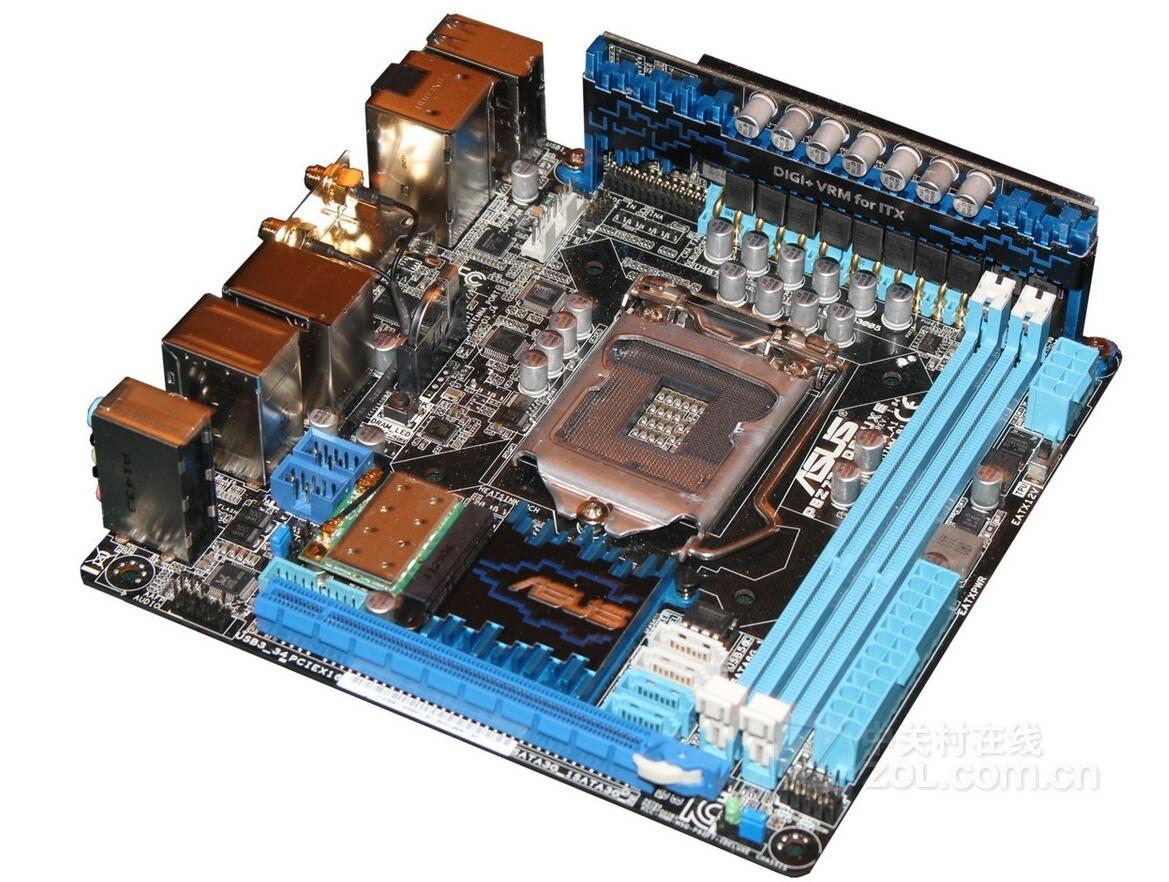 D'origine carte mère pour P8Z77-I DELUXE 17*17 Mini-ITX LGA1155 DDR3 90% nouveau