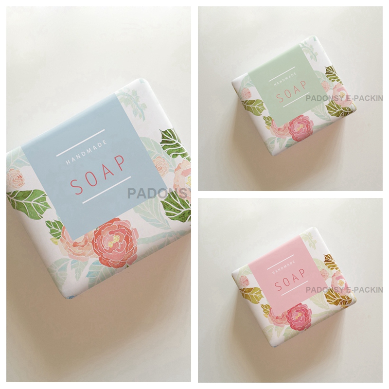 Rose Flower Printed Soap Wrapping Paper Packaging for Handmade Soap Pure Cold-process Soap Wrapper
