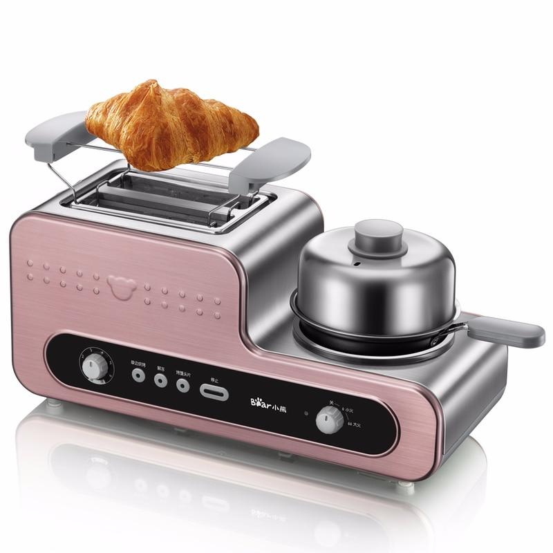 Ours 3 en 1 petit déjeuner fabricant grille-pain maison petit-déjeuner grille-pain remorqueur pilote entièrement automatique Toast