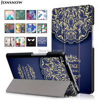 High Quality 3 Folds Flip PU Leather Case With Stand For Lenovo Tab 4 8 0