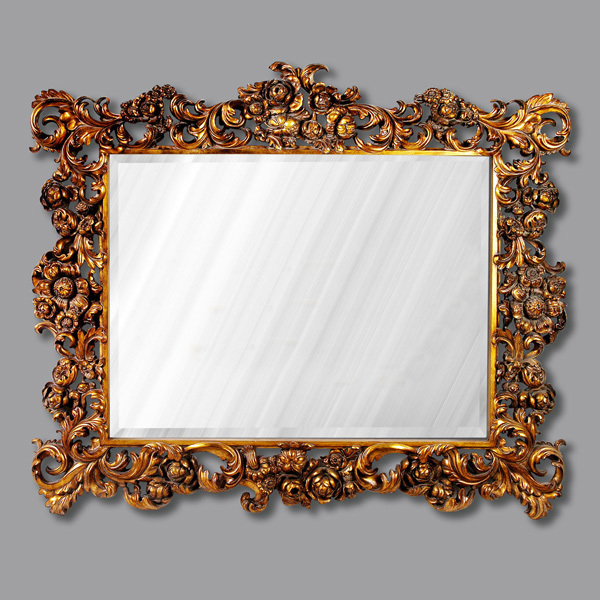 European Antique Refined Pierced Mirror Luxury Frame Decor Wall Art ...