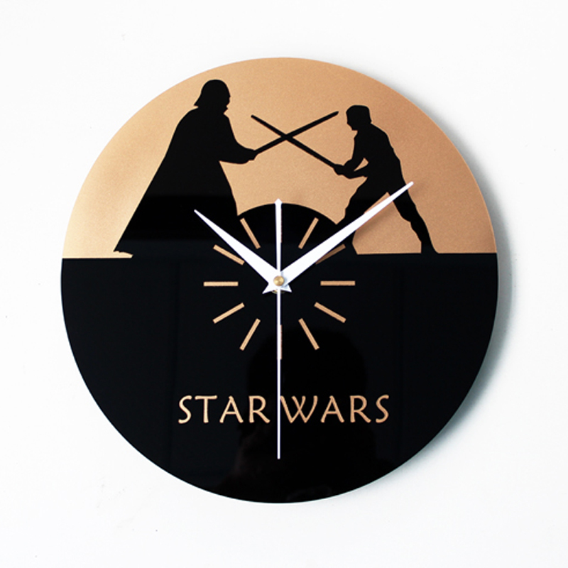 Creative Clock Star Wars Wall Clocks Simple Modern Design CD Record Clocks Acrylic Wall Watch