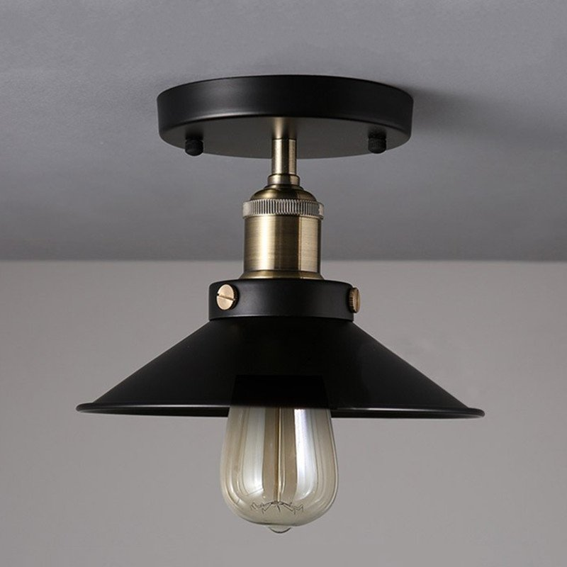 Loft retro Vintage industrial Ceiling light outdoor balcony Nordic creative vintage bedroom bedside E27 Ceiling lamp aisle bar american country retro creative loft ceiling lamps e27 1 bulb included vintage light for balcony corridor aisle bar coffee hall