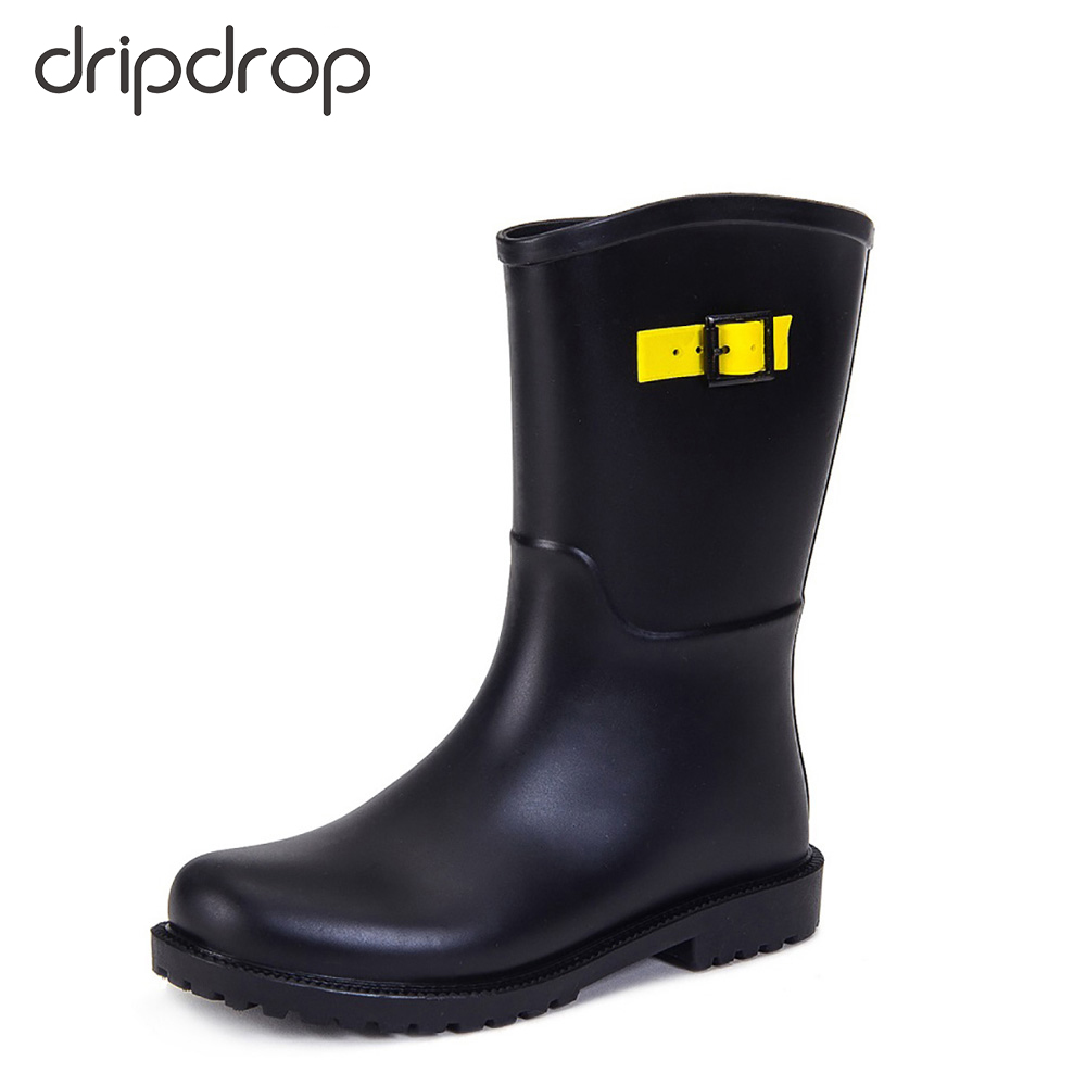 DRIPDROP Girls Rain Boots Waterproof Mid-Calf Style Sneakers Rainboots with Buckle Knee-Excessive Boots, Low-cost Knee-Excessive Boots, DRIPDROP Girls Rain Boots Waterproof Mid Calf Style Sneakers Rainboots with Buckle